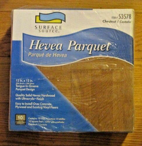 Parquet Chestnut Floor Tile T&G 12x12 Box of 10