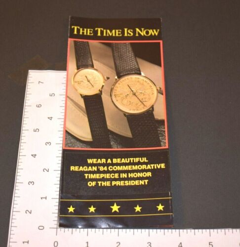 Ronald Reagan 1984 Commemorative Watch President Pamphlet Order Form Quartz