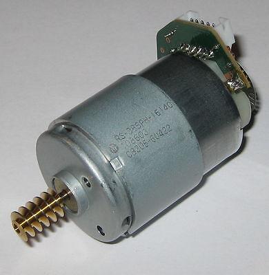 Mabuchi Rs-385ph Motor W Brass Worm Gear Optical Encoder - 24 Vdc Dual Shaft
