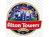 2 tickets to alton towers 14/06/18