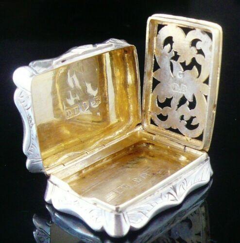 Antique Sterling Silver Vinaigrette, David Pettifer, Birmingham 1864