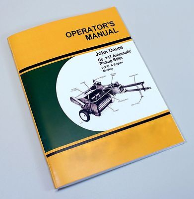 JOHN DEERE 14T HAY BALER OWNER OPERATOR MANUAL KNOTTER ADJUSTMENT TIMING SERVICE