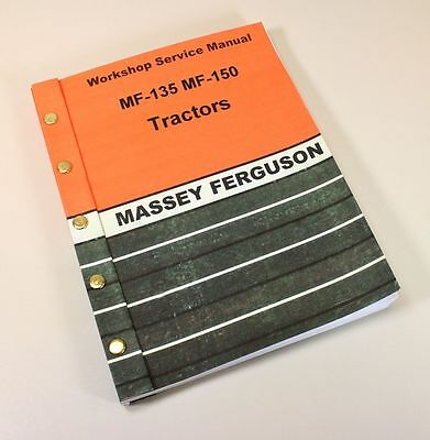 MASSEY FERGUSON MF 135 150 TRACTOR SERVICE REPAIR SHOP MANUAL TECHNICAL WORKSHOP for sale  Shipping to India