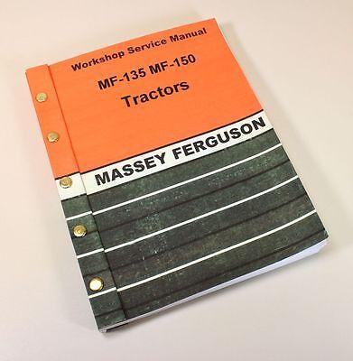 Massey Ferguson Mf 135 150 Tractor Service Repair Shop Manual Technical Workshop