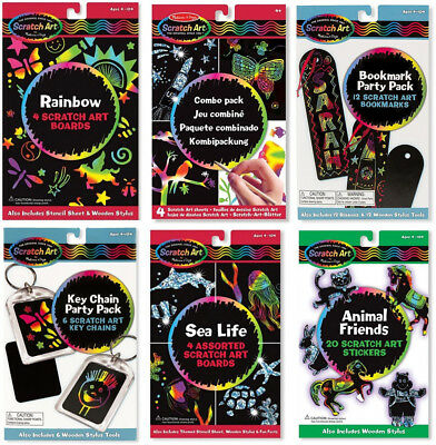 MELISSA AND DOUG SCRATCH ART DESIGNS 20% DISCOUNT FOR  BUYING 2 SETS