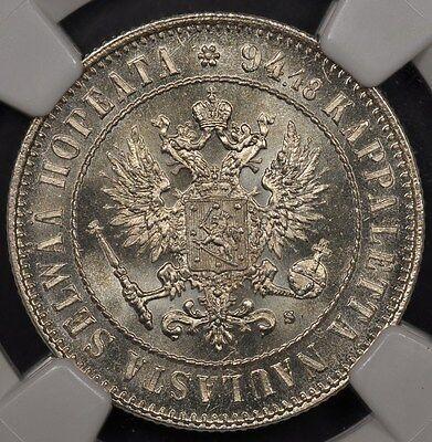 1915-S NGC MS64 FINLAND MARKKA