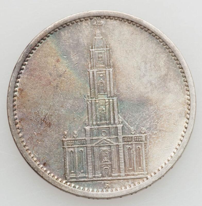 1935 GERMAN 5 MARK SILVER COIN