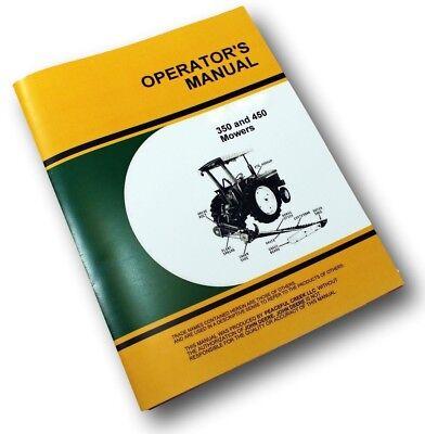 Operators Service Manual For John Deere 350 450 Bar Mower Owners Sickle