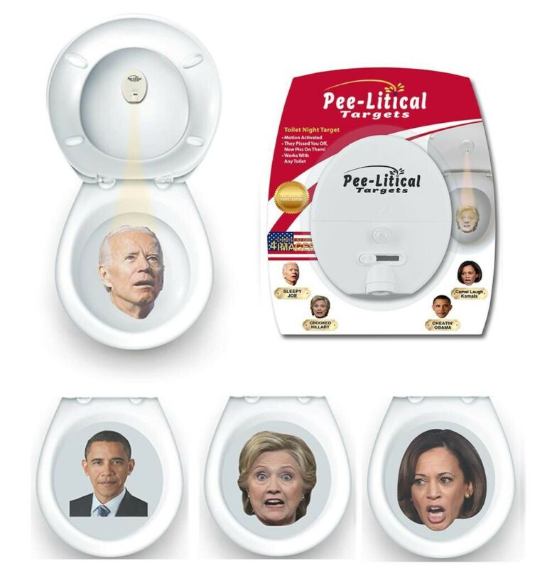 2 ObaMa Target Toilet Projectors (Piss on Biden Pelosi Biden Kamala TRUMP 2020