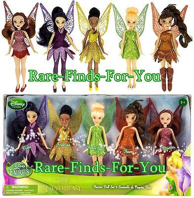 "Disney Parks Store Tinker Bell ""Legend of the NeverBeast"" Fairies Doll Set (NEW)"