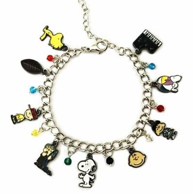 Snoopy & Friends Peanuts Themed Assorted Metal Charms Bracelet ()