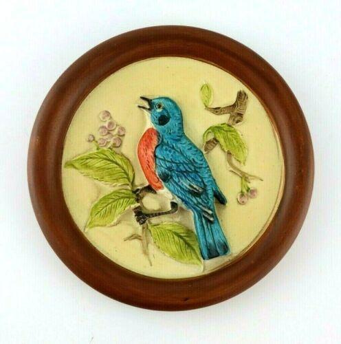 Blue Bird Ceramic / Porcelain Raised Wall Plaque