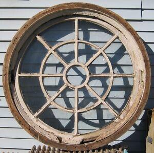 Large antique round window 48 5 034 diameter hard to find for 12 round window