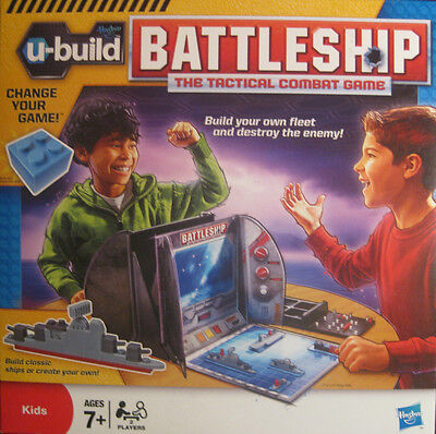 U-build Battleship Navel Combat Family Game Of Boats Brand By Hasbro