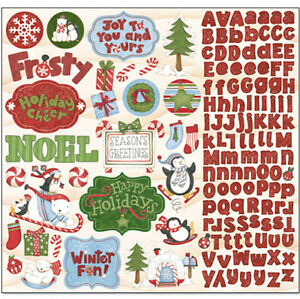 Debbie Mumm POLAR CHRISTMAS 12x12 Sticker Sheet scrapbooking SALE!!