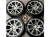 "18"" Genuine Audi alloys refurbished gunmetal grey, excellent condition, Pirelli tyres."