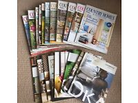 Job lot of Country Living Interior Design Magazines