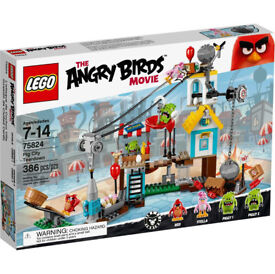LEGO Angry Birds Pig City Teardown Set 75824 Rare Brand New Factory Sealed Retired Now Discontinued