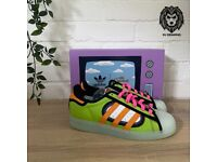 Adidas Superstar X The Simpsons Squishee UK Size 4.5 Trainers ⭐️New & Free Delivery⭐️