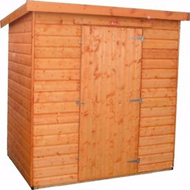 Wooden garden shed factory seconds pent shed 8ft x 6ft