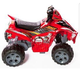 Kids red 12v raptor electric quad