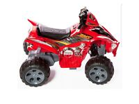 Kids red 12v raptor electric quad