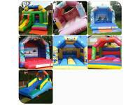 Bouncy castle hire from as little as £35 frozen/slide/cars/planes/princess/girls/boys/minions/party