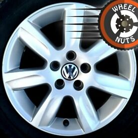 """15"""" Genuine VW Polo alloys 5x100 excel cond excel tyres."""