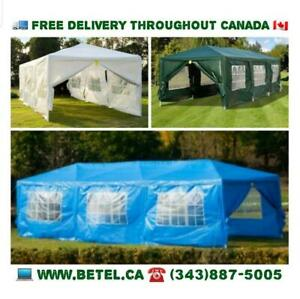 SALE | Brand New 10x30 Wedding Party Pavilion Canopy Tents with 8 Removable Walls