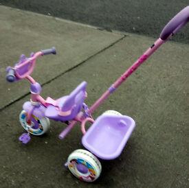 Quality Metal Disney Princess Trike with Parent handle