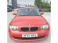 BMW 1 Series 2.0 120d Hatchback 5dr Diesel Manual Red 2007 with service History.
