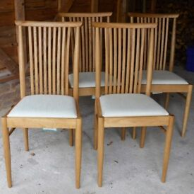 ERCOL TERAMO UPHOLSTERED DINING CHAIRS SET OF 4 EX DISPLAY RRP £ 1,1k