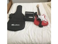 Rockburn electric guitar with amp