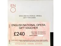 Opera gift voucher
