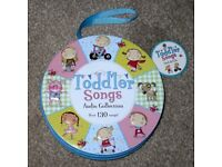 Toddler Songs Audio Collection Over 130 songs with 8 CD's in Zipped Storage Case