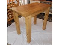 New Hand Made Rustic Plank Breakfast Bar/Kichen Dining Table