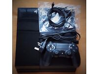 PS4 with pad and all wires