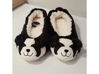 Brand New Black & White Panda Slippers
