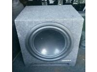 Alpine high end sound system sub subwoofer loud shakin bass high end set up