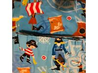 "Children's Pirate Curtains 52""Long"