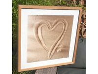 Beech Picture frame and Heart print - Ikea
