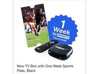 Brand New Now TV box included a One Week Sport Pass