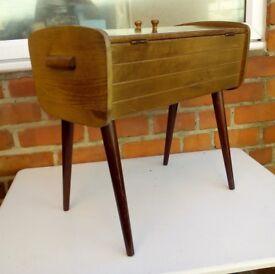 Stylish Mid Century Oak Sewing Box