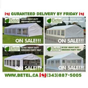 Wedding Party Canopy Tents From $69 - 4-6 Business Day Free Delivery  (*ON & QC Only)