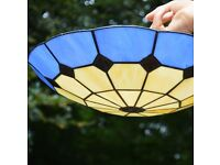 STAINED GLASS JOHN LEWIS CEILING LIGHT PENDANT SHADE TIFFANY STYLE SET OF 4