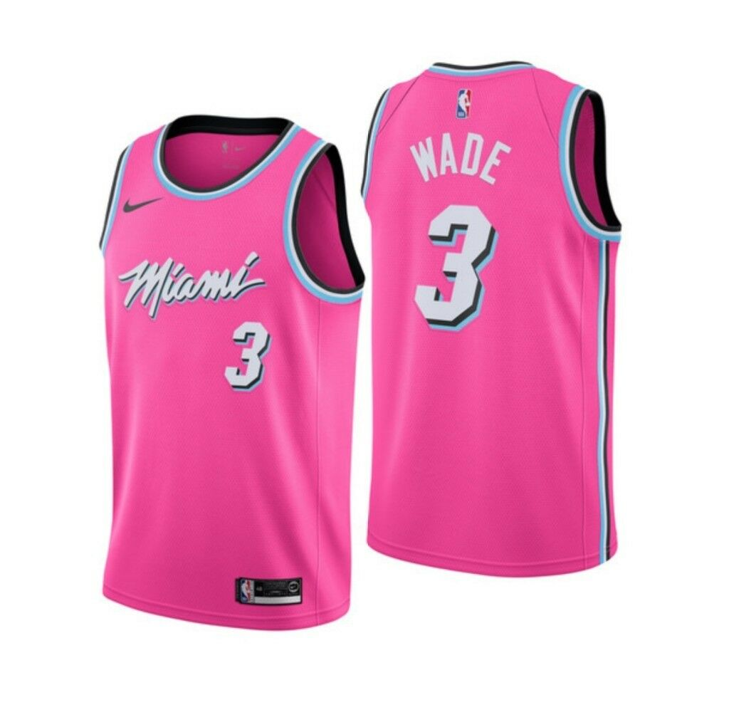 71018dee9d2 Miami Heat Nike NBA Earned Edition Sunset Vice Swingman Jersey Dwyane Wade  3  M Medium 44