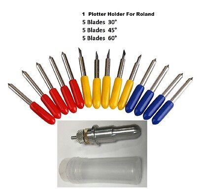Vinyl Cutter Plotter For Roland 15 Pcs 304560 Degrees 1 Holder For Roland