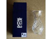 Lead crystal cut-glass flower vase