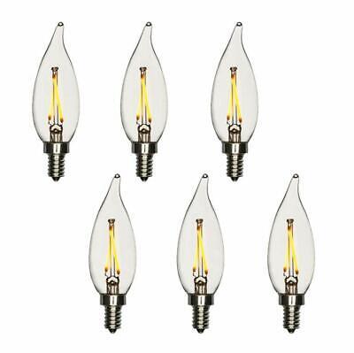 Modvera LED Candelabra Bulb Dimmable 2700K E12 Base Chandelier Light - 6 Pack ()