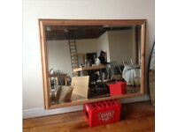Mirror large bevel edge pine